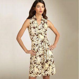 Diane Von Furstenberg sleeveless silk wrap dress